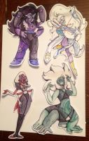 Jumbo Steven Universe Fusions Stickers by Lee-Valentine