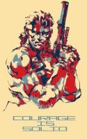 Solid Snake: Courage Is Solid by Rocktzar