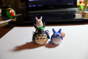 Totoro and Friends by lonelysouthpaw