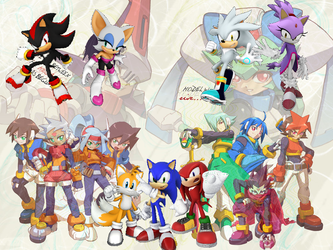 Sonic The Hedgehog X Megaman Worlds Unite - ZXA by TriadSentuary