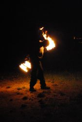 Fire Spinning 6 by Tizera