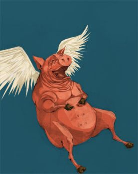 flying pig by Ville
