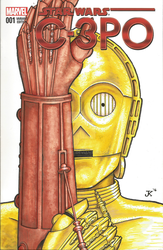 C-3PO Sketch Cover by JMKohrs