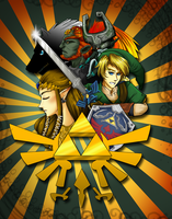 Quick Zelda Poster Streamed for Fun by Solstice-11