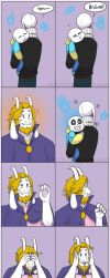 Silly Asgore by Noire73