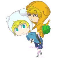 Finn and Jake by AChildDrawnToEvil