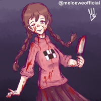 Madotsuki with her knife by Meloewe