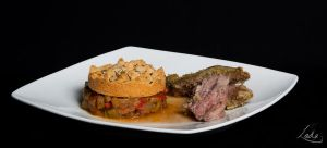 Herbs-crusted lamb and ratatouille crumble by Erendrym