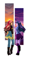 [MLP] Twilight and Sunset by Yukari-Light