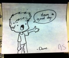 POST-IT-ART: have a good day! by Saber-Cow