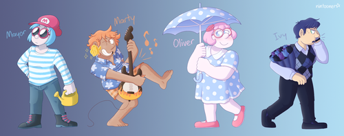 My Animal Crossing New Leaf Characters by Nintooner