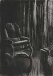 Light and Shadow Study - Charcoal Sketch #4 by FilipaPT