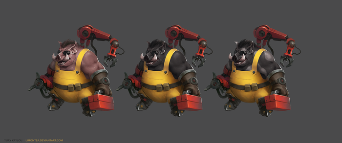 Pig-engineer Concept by LimonTea