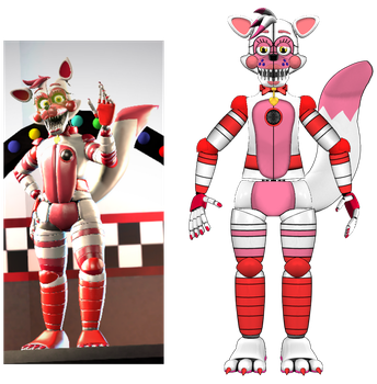 estylised Funtime foxy by hibridofazber
