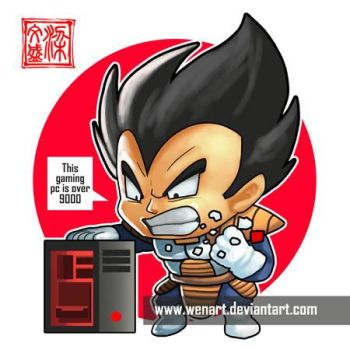 Vegeta its over 9000 by Wenart