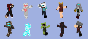 Minecraft skins by tarukatheultimate