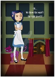 Coraline in Wonderland by madmoiselleclau