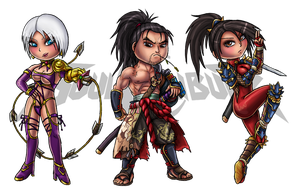 Soul Calibur IV: Chibis Set 1 by Lukael-Art