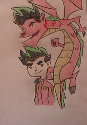 The american dragon:colour by mitsi