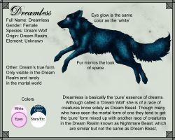 Character Sheet: Dreamless by DreamCrystalArt