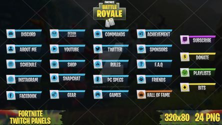 Fortnite - Twitch Panels #3 by LoL-Overlay