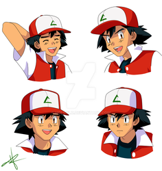 Commission: Samples of Adult Ash 2 by HollyLu