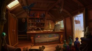 Magic Shop by Aeyolscaer