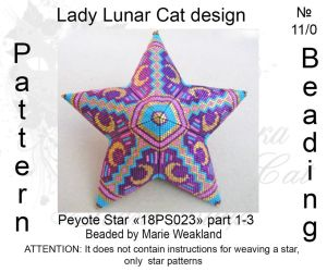 Peyote star 18PS023 part 1-3 by LadyLunarCat