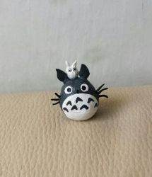 Totoro polymer clay  by Fontaene