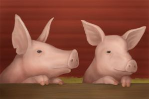Pigs by Isdrake