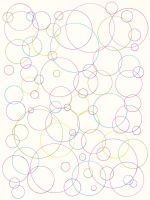 Colored Ink Circles Pattern by Enchantedgal-Stock