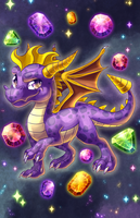 Spyro the Dragon by cometkinsart