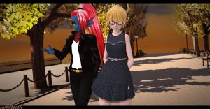 [MMD x Undertale}~Date with alphys by sweettooth2220