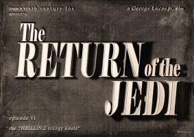 Return of the Jedi - vintage movie title by 3ftDeep
