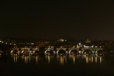 Charles Bridge at Night by AliusS