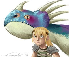 :: A Girl And Her Nadder by hawberries