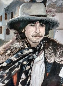 Bob Dylan - oil painting by ghostofdestruction