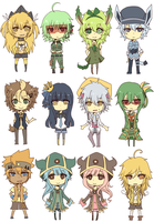 Gijinka: Chibi Assembly by crino-line
