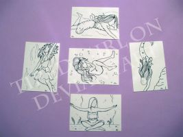5 Elements ACEO by tired-girl