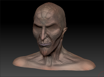 ZBRUSH WIP - Wheel Of Time Myrddraal Bust 01a by VR-Robotica