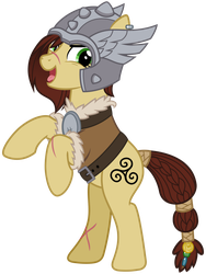 Mighty Helm: Steela Oresdotter by cheezedoodle96
