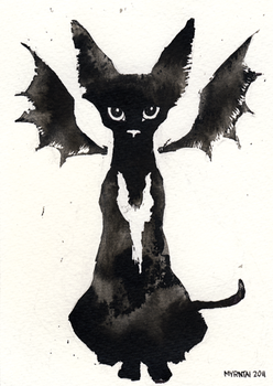Ink Cat 4 by Myrntai