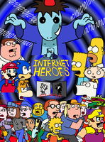 Internet Heroes Comic Cover by Mighty355