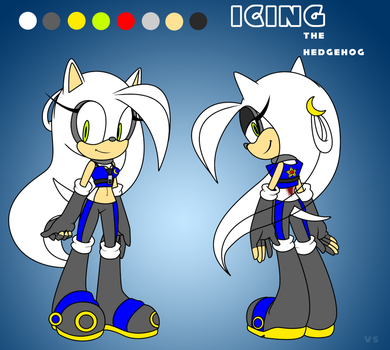Icing the Hedgehog: Reference by VanillaSurfboard