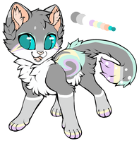 [AUC] Grey n' Pastel Kitten~! -CLOSED- by ThatCreativeCat