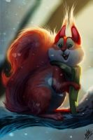Red Squirrel by TehChan