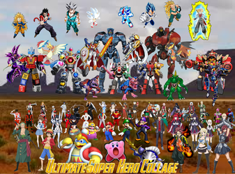 True Ultimate Super Hero Collage #9 by TriadSentuary
