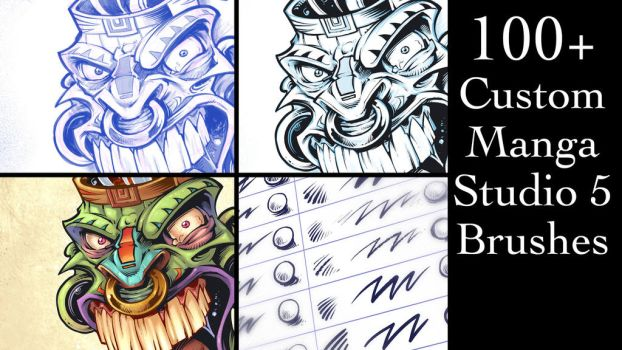 Custom Manga Studio 5 Brushes by flylanddesigns