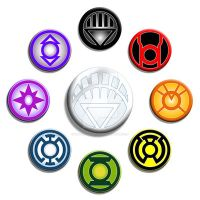 Blackest Night Buttons by Mutant-Cactus