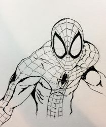 Daily Sketch Spidey by JasonScholte